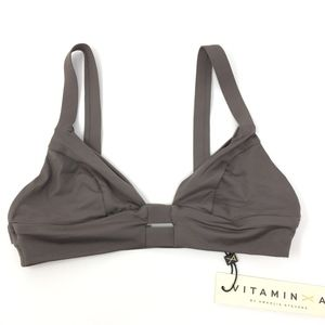 2430048b8b Vitamin A Swim - Vitamin A Neutra Bralette Bikini Swim Top Mineral